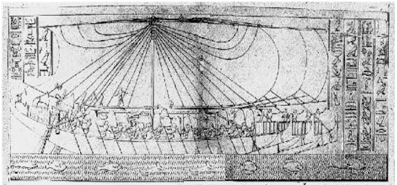 Ships from Hatshepsut's Temple