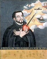 St. Francis Xavier one of the founidng members of the Jesuit Order